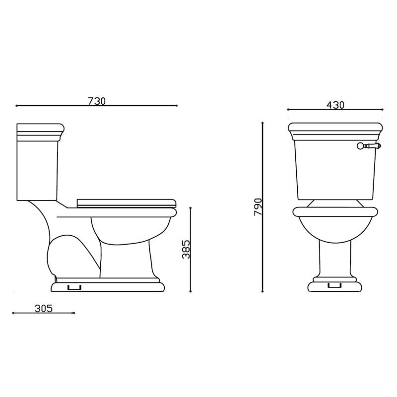 马桶坑距规格尺寸图